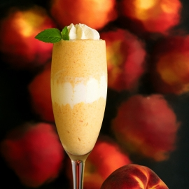 Peach Parfait by Traverse City Photographer Thomas Kachadurian