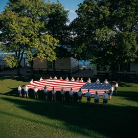 Flag Folding by Traverse City Photographer Thomas Kachadurian
