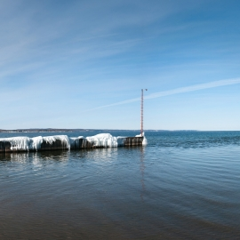 The Boardman River at West Grand Traverse Bay by Traverse City Photographer Thomas Kachadurian