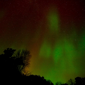 Borealis over Old Mission by Traverse City Photographer Thomas Kachadurian
