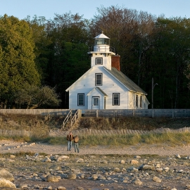 Mission Point Light by Traverse City Photographer Thomas Kachadurian