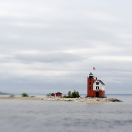 The Round Island Light by Traverse City Photographer Thomas Kachadurian