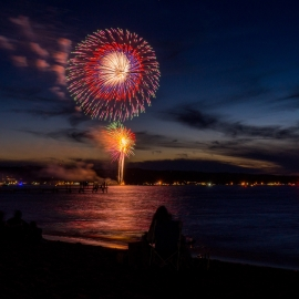 Fireworks by Traverse City Photographer Thomas Kachadurian