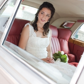 Bride in a Rolls Royce by Traverse City Wedding Photographer Thomas Kachadurian