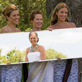 Bride in the mirror by Traverse City Wedding Photographer Thomas Kachadurian