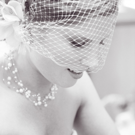 beautiful bride with veil by Traverse City Wedding Photographer Thomas Kachadurian