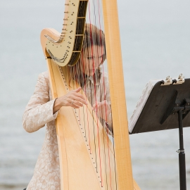 Harpist Sylvia Norris by Traverse City Wedding Photographer Thomas Kachadurian