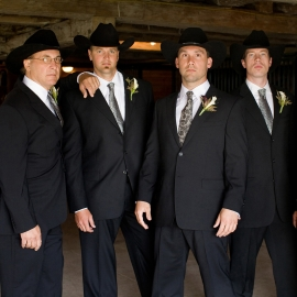Cowboy Groomsmen by Traverse City Wedding Photographer Thomas Kachadurian
