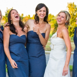 Laughing Bridesmaids by Traverse City Wedding Photographer Thomas Kachadurian