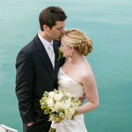 The Wedding Kiss by Traverse City Wedding Photographer Thomas Kachadurian