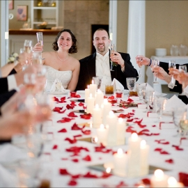 Wedding Toast at Black Star Farm by Traverse City Wedding Photographer Thomas Kachadurian