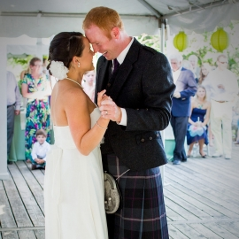 Wedding Dance at Glen Lake Yacht Club by Traverse City Wedding Photographer Thomas Kachadurian