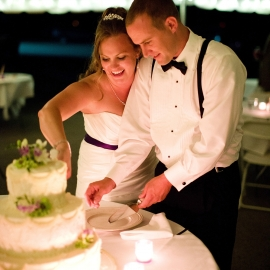 Cutting the Cake by Traverse City Wedding Photographer Thomas Kachadurian