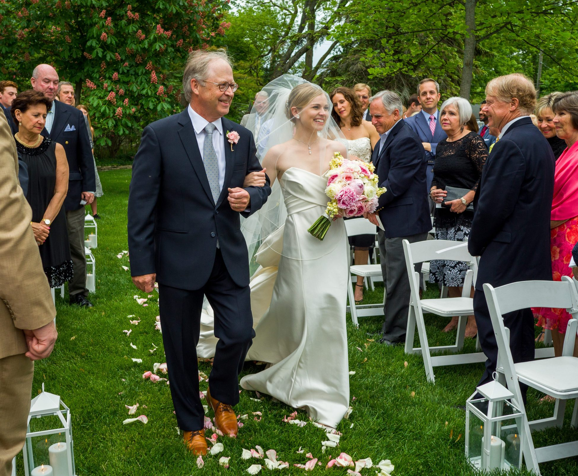 Bride and her Father by Traverse City Wedding Photographer Thomas Kachadurian