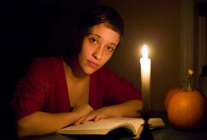 Madeline by candlelight by photographer Thomas Kachadurian