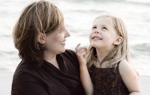 Sophia and her Mom by Photographer Thomas Kachadurian