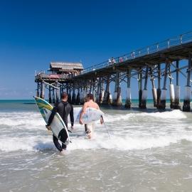 Surfers at Cocoa Beach by Traverse City Portrait Photographer Thomas Kachadurian