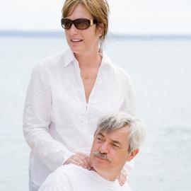 Couple at the Lake by Traverse City Portrait Photographer Thomas Kachadurian