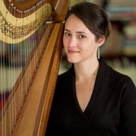 Harpist Marta Luce by Traverse City Portrait Photographer Thomas Kachadurian