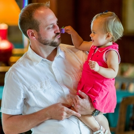 Father and Daughter by Traverse City Portrait Photographer Thomas Kachadurian