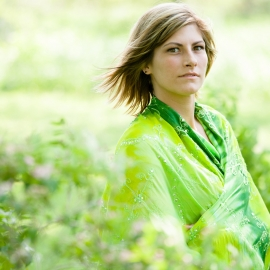 Woman in Green by Traverse City Portrait Photographer Thomas Kachadurian