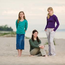 Sisters at Glen Haven Beach by Traverse City Portrait Photographer Thomas Kachadurian