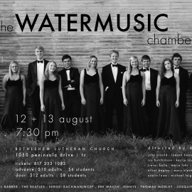 Poster for the Watermusic Chamber Singers by Traverse City Portrait Photographer Thomas Kachadurian