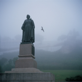 Marquette Statue on Mackinac Island by Traverse City Photographer Thomas Kachadurian