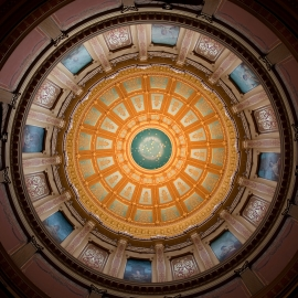 Michigan Capitol Dome by Traverse City Photographer Thomas Kachadurian