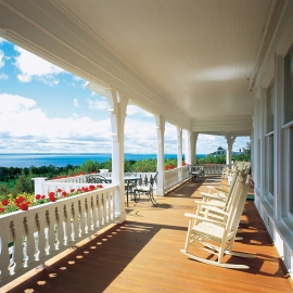 Porch on Mackinac Island by Traverse City Photographer Thomas Kachadurian