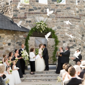 Wedding Dove Release by Traverse City Wedding Photographer Thomas Kachadurian