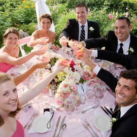 The wedding toast by Traverse City Wedding Photographer Thomas Kachadurian