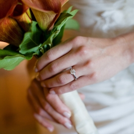 Bouquet and wedding ring by Traverse City Wedding Photographer Thomas Kachadurian