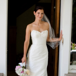 Smiling Bride by Traverse City Wedding Photographer Thomas Kachadurian