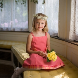 Flower Girl by Traverse City Wedding Photographer Thomas Kachadurian