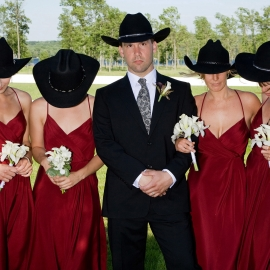 Cowboy Wedding by Traverse City Wedding Photographer Thomas Kachadurian
