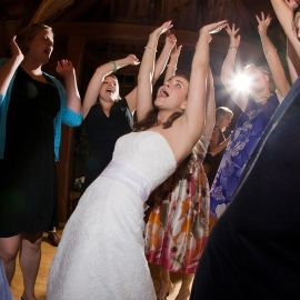 Dancing Bride by Traverse City Wedding Photographer Thomas Kachadurian
