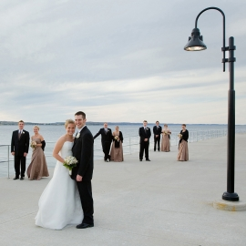 The Wedding Party at the Hagerty Center by Traverse City Wedding Photographer Thomas Kachadurian