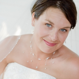 Blue-eyed Bride by Traverse City Wedding Photographer Thomas Kachadurian